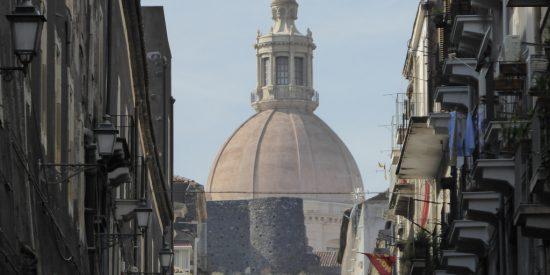 Vistas a la cúpula de Santa Ágata