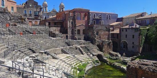 Anfiteatro romano en Catania Italia