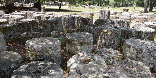 El Templo de Zeus Olímpico en Olimpia
