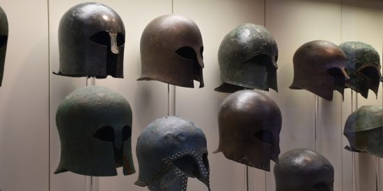 Cascos griegos Museo en Olimpia