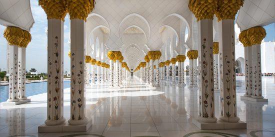 Espectacular imagen de la Mezquita de Abu Dhabi