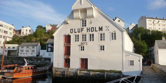 Edificios pintorescos en Alesund