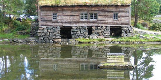 Casa típica en Alesund Noruega