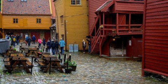 Excursión Bryggen casas de madera en Bergen
