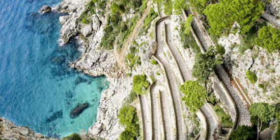 Vista de la Via Krupp en Capri