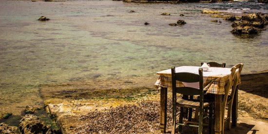 Pintoresca imagen costa de Chania Creta