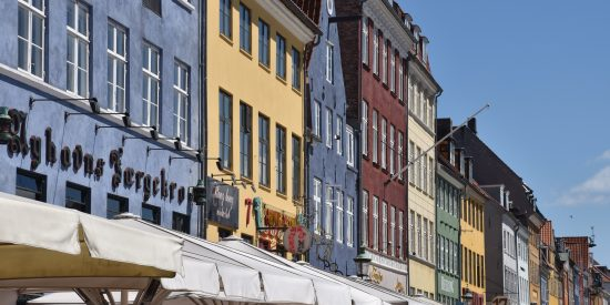 Casas de colores en Copenhague