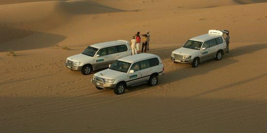 Todoterrenos por el desierto de Dubai