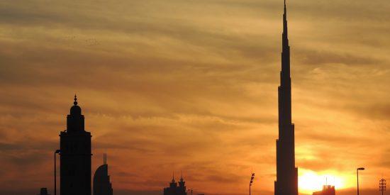Anochecer en Dubai