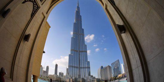 Espectacular imagen rascacielos en Dubai