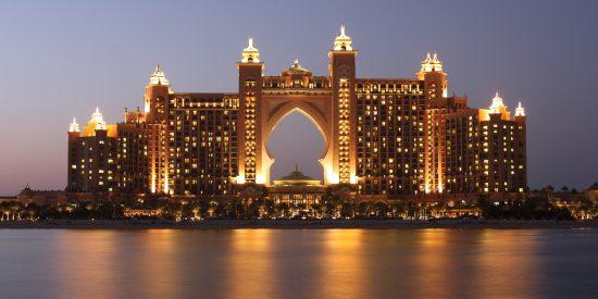 Hotel Atlantis de noche Dubai