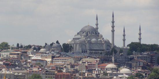 La mezquita azul desde el crucero Estambul
