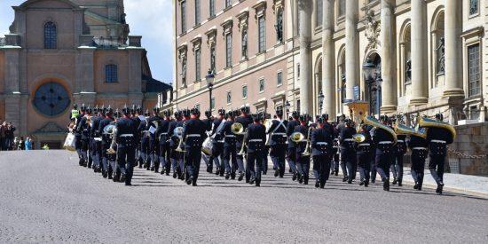 Cambio de guardia en el palacio real de Estocolmo