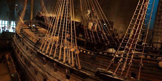 Galeón en el museo Vasa en Estocolmo
