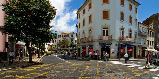Plaza en Funchal Madeira