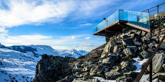 Monte Dalsnibba del Fiordo de Geiranger Noruega