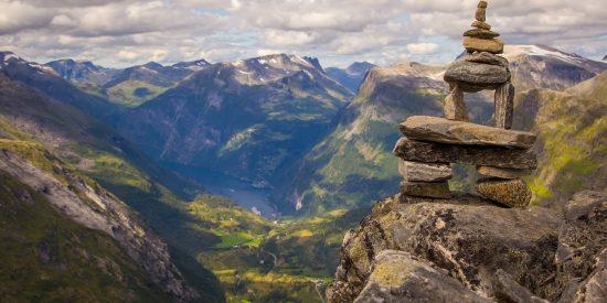 Monte Dalsnibba: Panorámica del Fiordo de Geiranger