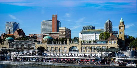 Vista desde el canal de Hamburgo