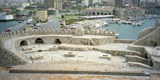 Vistas desde la fortaleza de Heraklion Creta