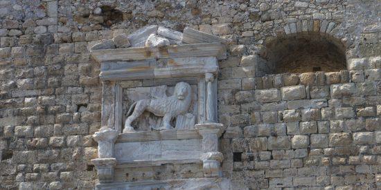 El León de San Marcos en el fuerte de Heraklion