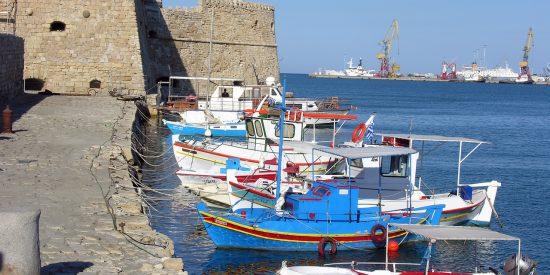 Puerto de Heraklion Grecia