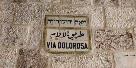 La Via dolorosa en Jerusalen
