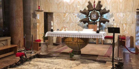 Interior de la Basílica de la agonía Jerusalen