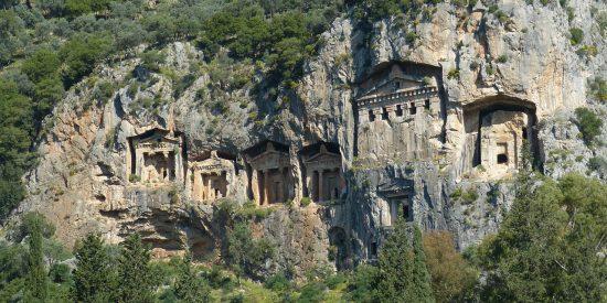Las tumbas Licias de Kaunos Turquía