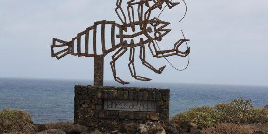Escorpión entrada a los Jameos del Agua Lanzarote