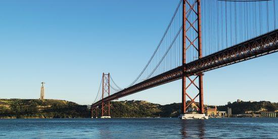 Puente 25 de Abril Lisboa Gran puente colgante Portugal Símbolo Lisboa