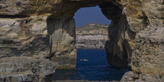 La desaparecida ventana azul en Malta