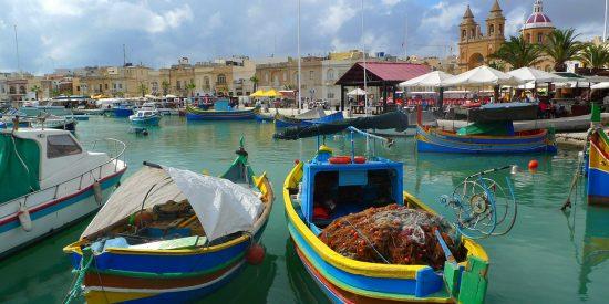 Puerto de la isla de Gozo en Malta