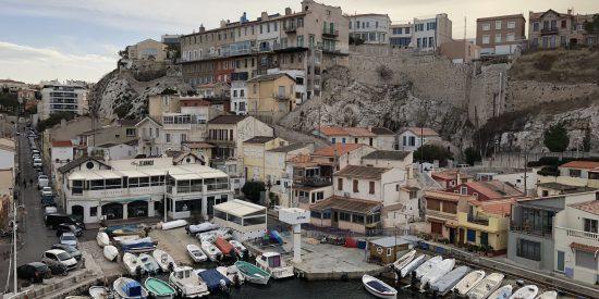 Vista al puerto de Marsella