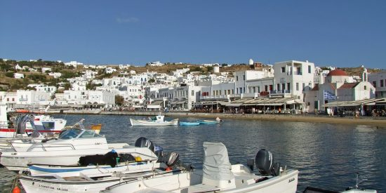 Puerto de Mikonos Mykonos Grecia