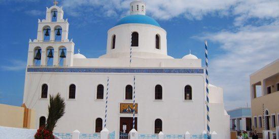Iglesia de la isla de Mikonos Grecia