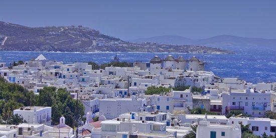 Vistas de Mikonos Mykonos Grecia