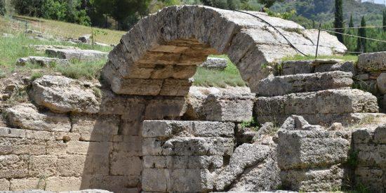 Olimpia yacimiento arqueológico Peloponeso Grecia