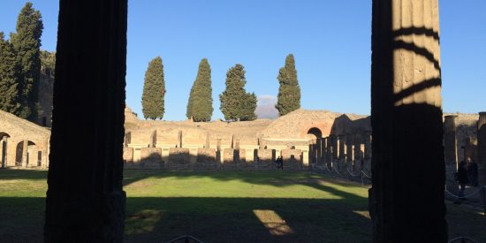 Columnas en excursión para cruceros a Pompeya