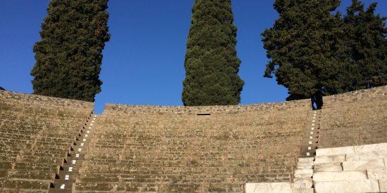 Escalones en Pompeya