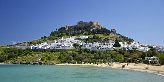 El castillo de Rodas en la isla de rodas