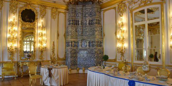 Interior palacio de Catalina la Grande en San Petersburgo
