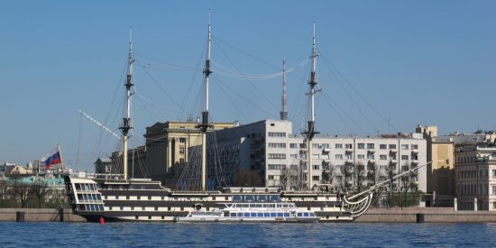 Barco Ruso en San Petersburgo