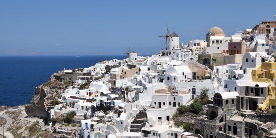 Calles de Santorini en las Islas Griegas