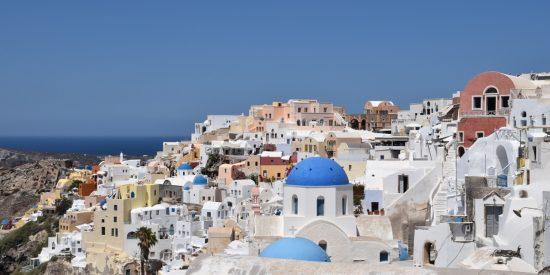 Vista general del pueblo Islas Griegas