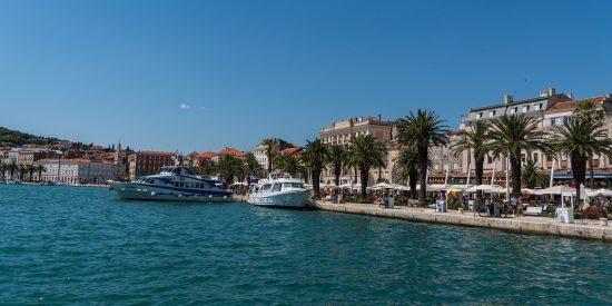 Puerto de Split en Croacia