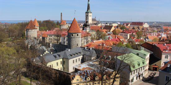 Vista de Tallin Estonia desde Mirador Patkuli