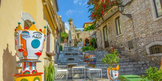 Tour por las calles de Taormina en Sicilia