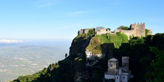 Castillo de Erice en Trapani Sicilia Visita para cruceros