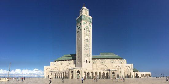 La mezquita de Hassan II en Casablanca