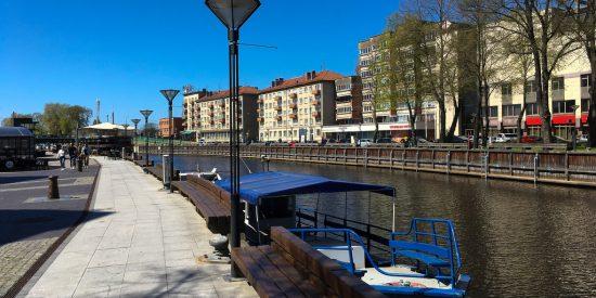 Canales por Klaipeda Lituania